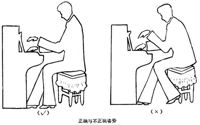 弹钢琴的坐位、坐姿、手型、触键、指法和基本技术训练