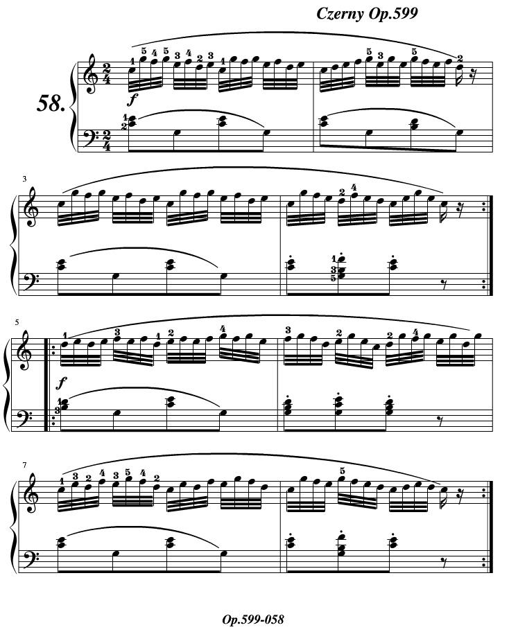 车尔尼599练习曲第58条