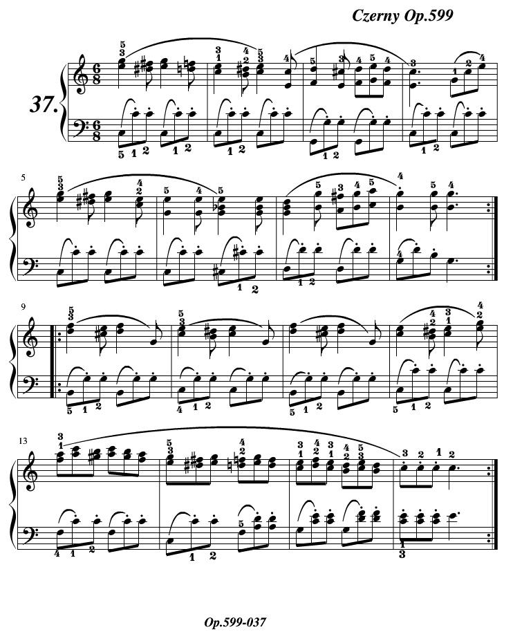 车尔尼599练习曲第37条