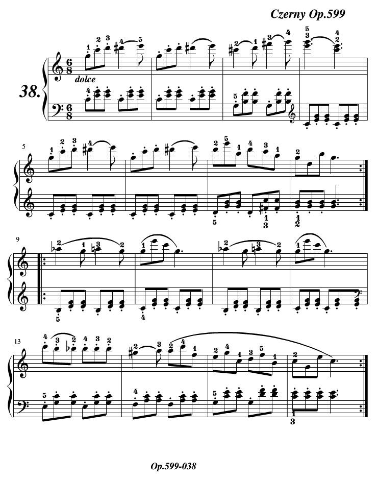 车尔尼599练习曲第38条
