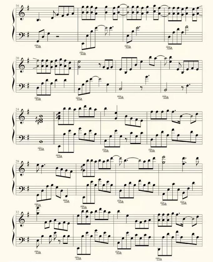 钢琴版 三生三世十里桃花 之 凉凉 附钢琴谱