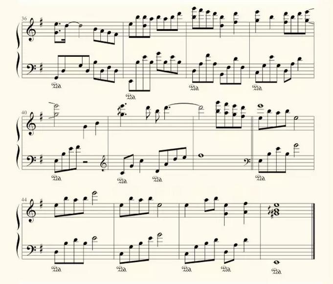 《三生三世十里桃花》之《凉凉》钢琴谱
