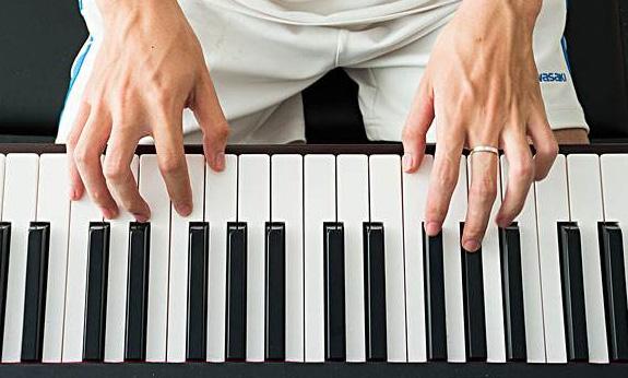 怎样在弹钢琴时把左右手分开