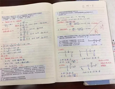 学霸的作业本,学习需要一种态度!