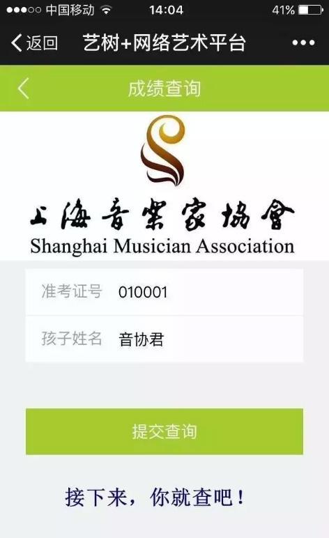 2017年上海音协夏季各项考级查分