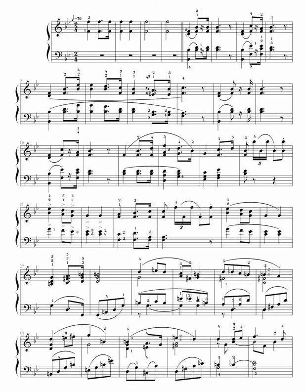 《婚礼进行曲》钢琴谱
