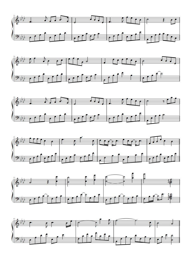 《醉赤壁》钢琴谱