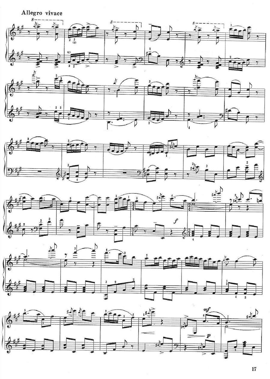 《百鸟朝凤》钢琴谱02