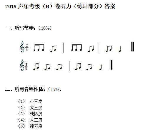 2018声乐考级(B)卷听力答案