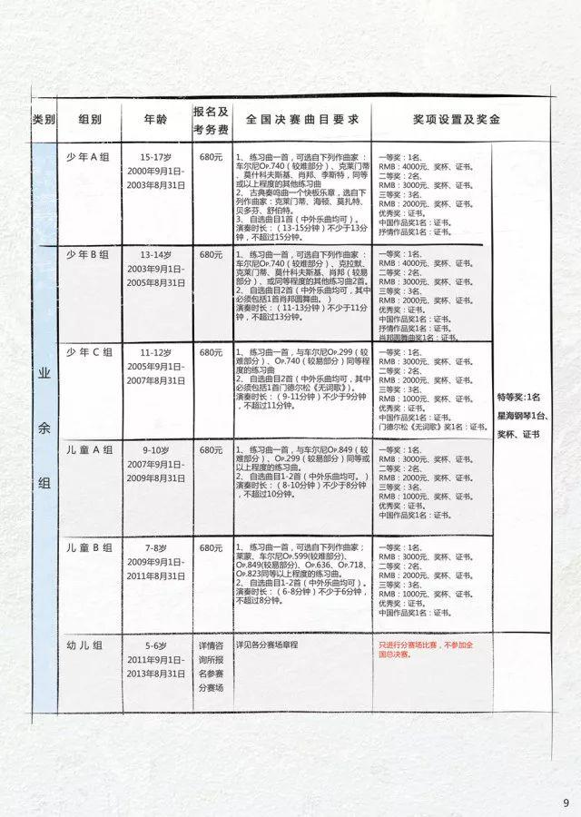 """2018第十七届""""星海杯""""全国钢琴比赛章程"""