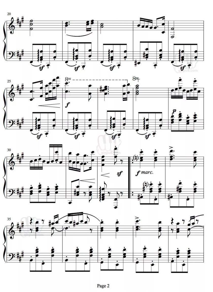 匈牙利舞曲第五号钢琴谱02