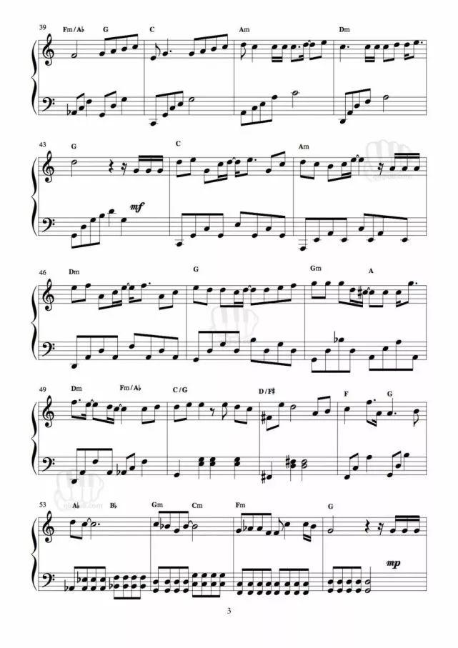 《爱了很久的朋友》钢琴谱