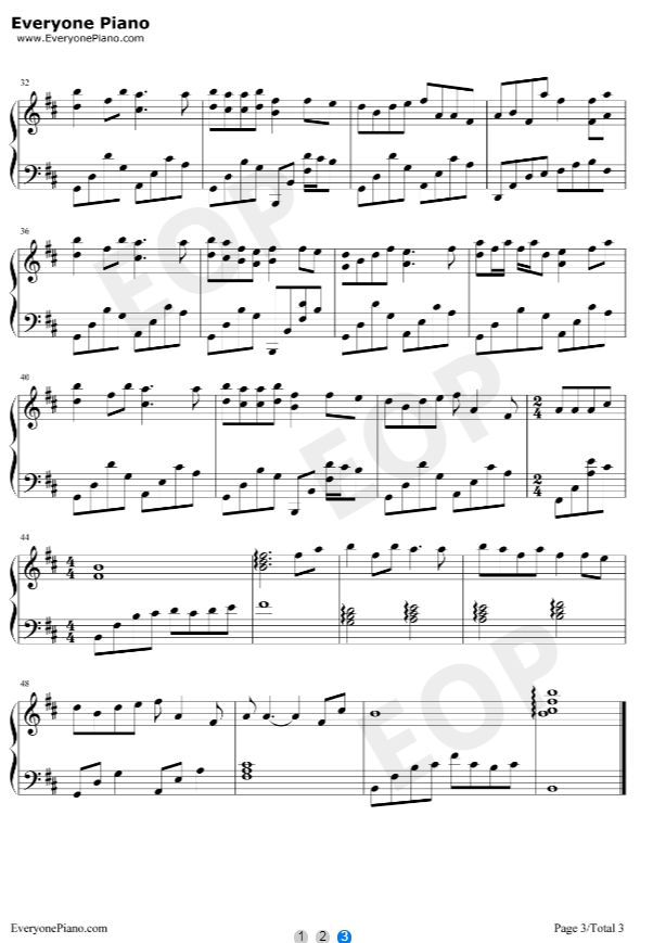 《盗将行》钢琴谱