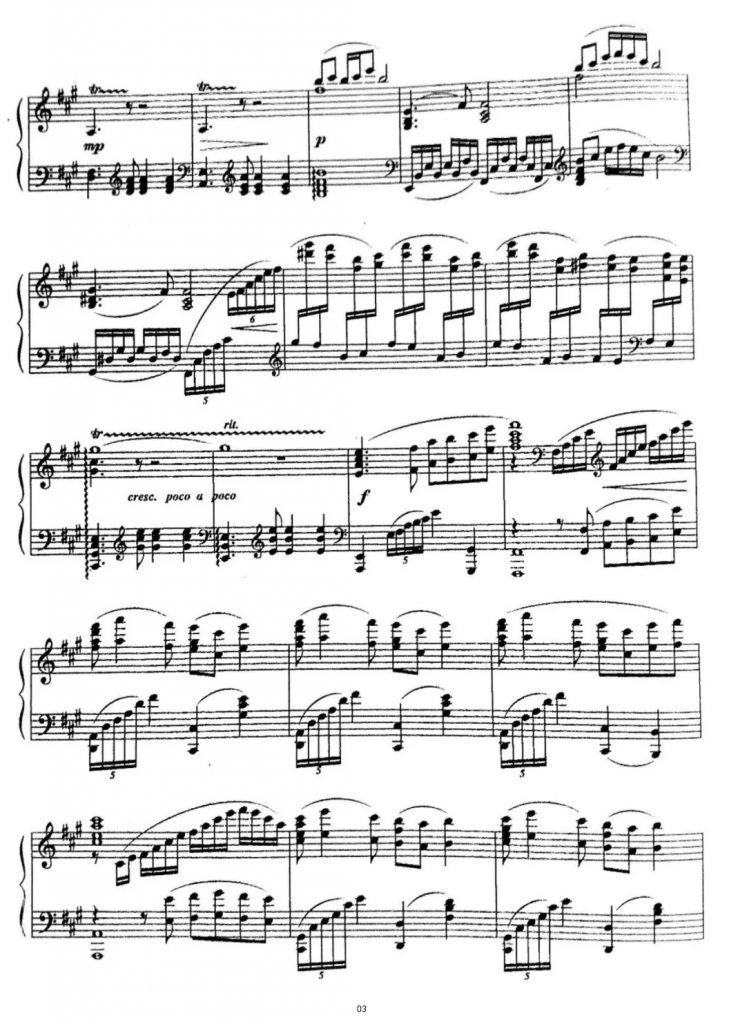 彩云追月 钢琴谱