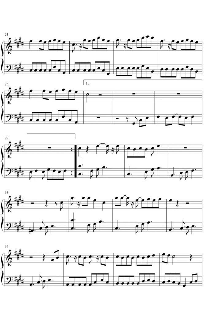 《处处吻》钢琴谱