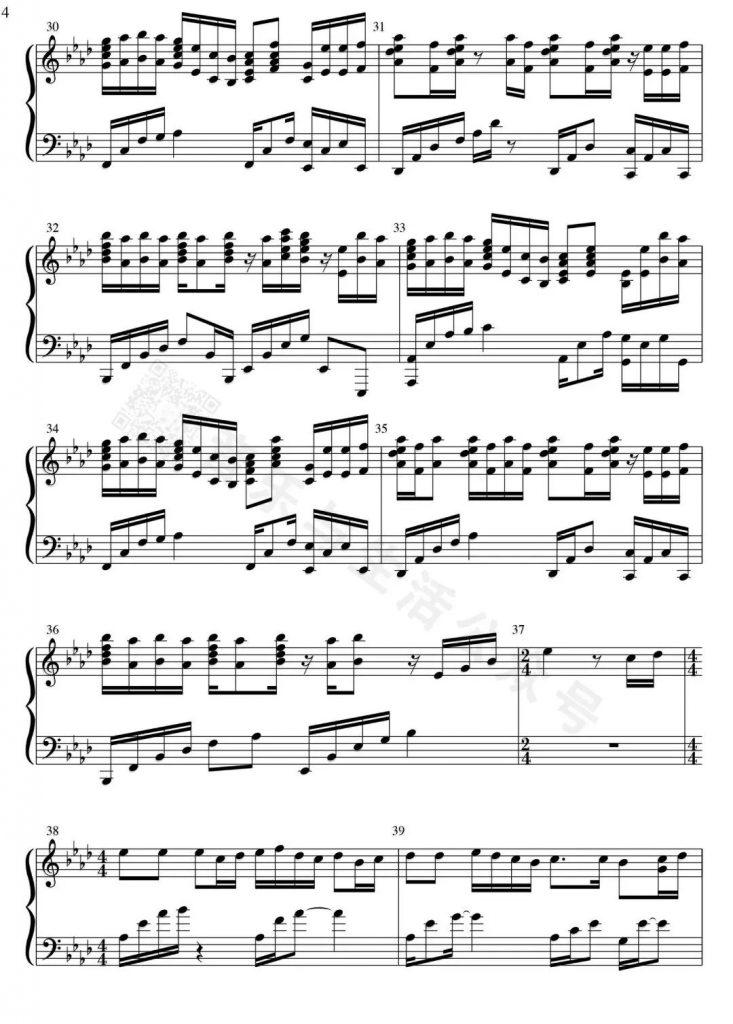 天黑黑 钢琴谱