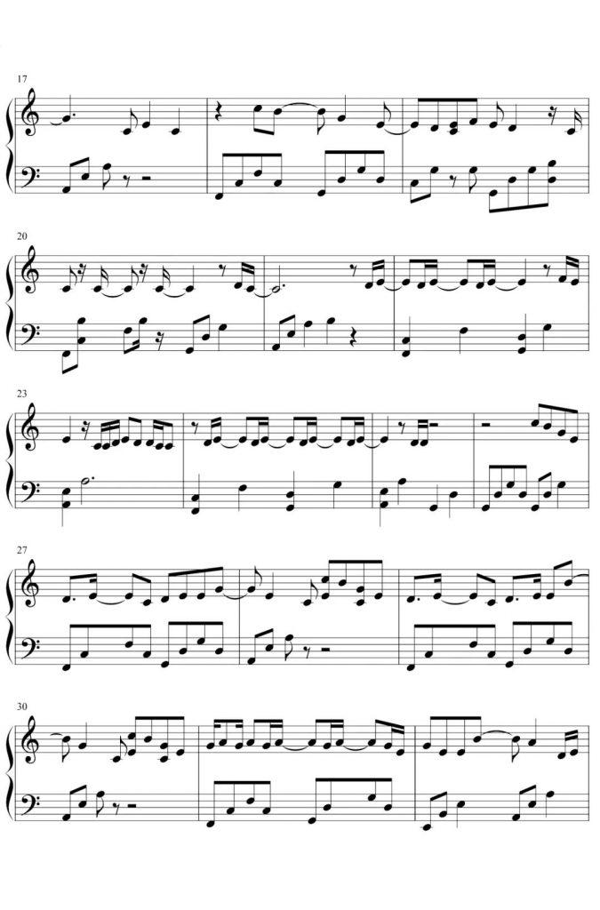 《星星失眠》钢琴谱