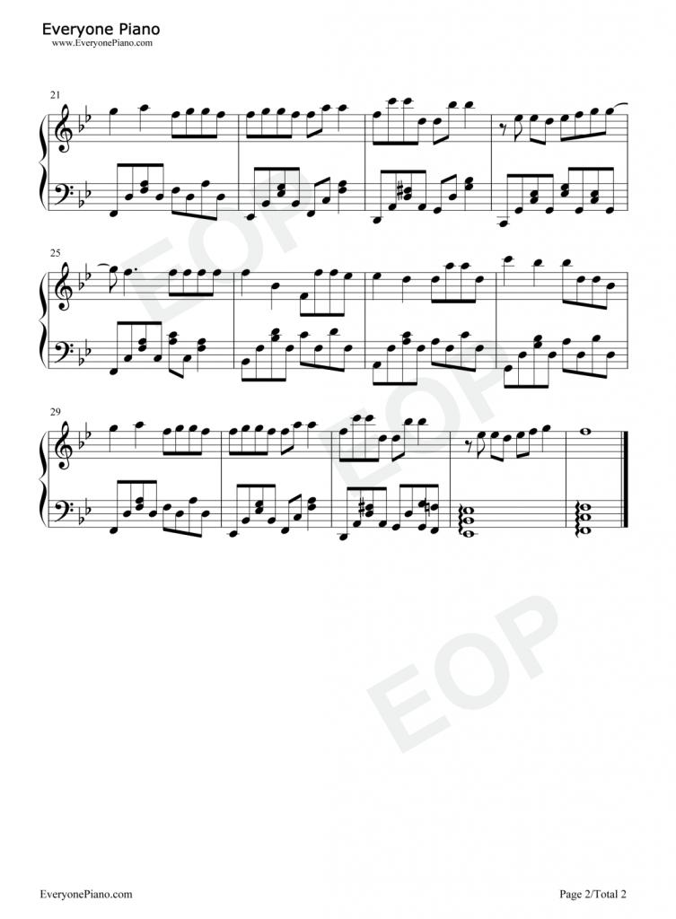 抖音热歌《飞鸟和蝉》 钢琴谱