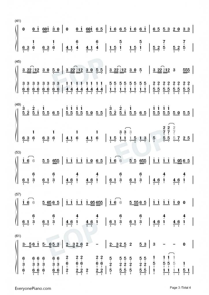 《大碗宽面》 钢琴数字简谱