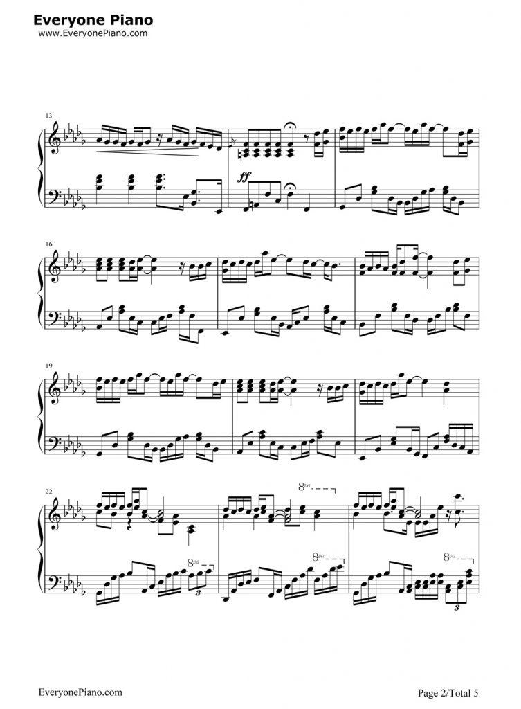 薛之谦丑八怪钢琴谱