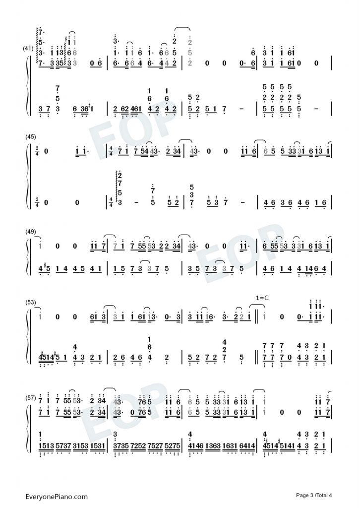 薛之谦《天外来物》钢琴数字简谱