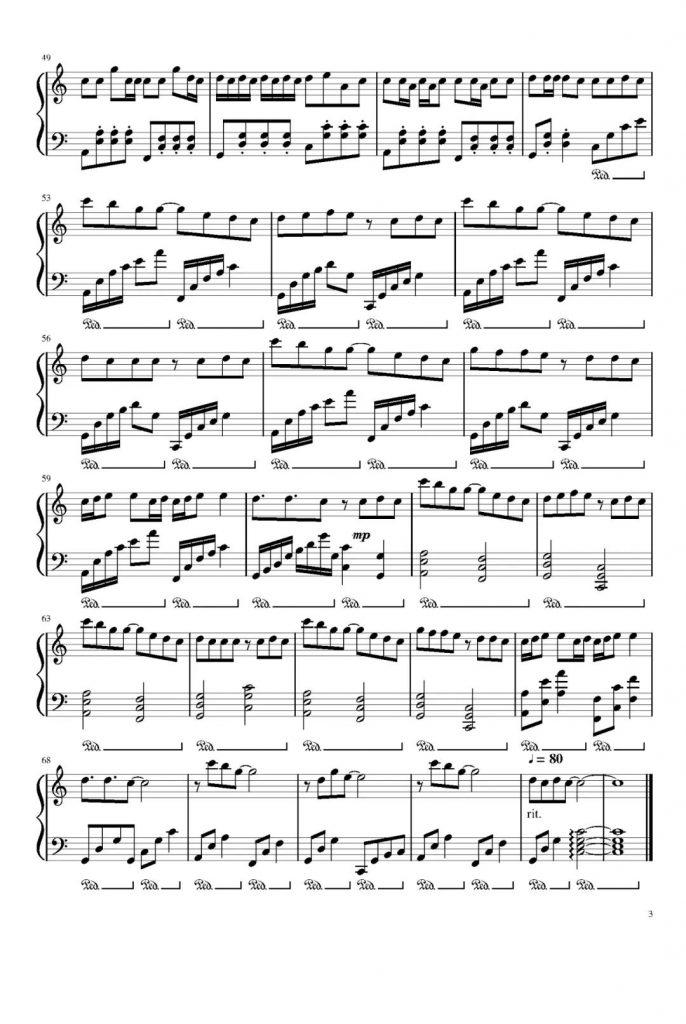 圈住你钢琴谱
