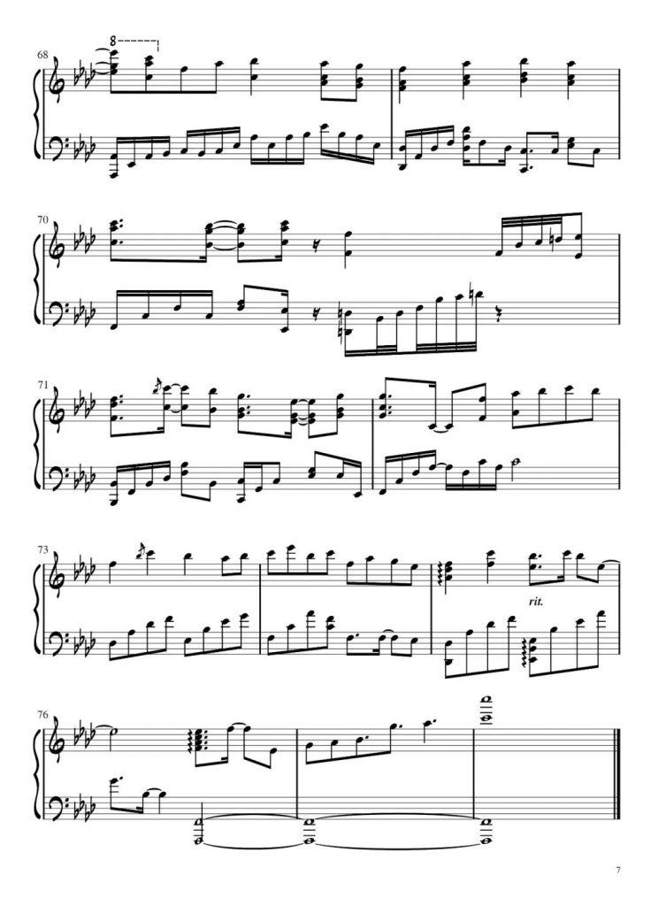 《隔岸》钢琴谱-我愿意一生为你追寻