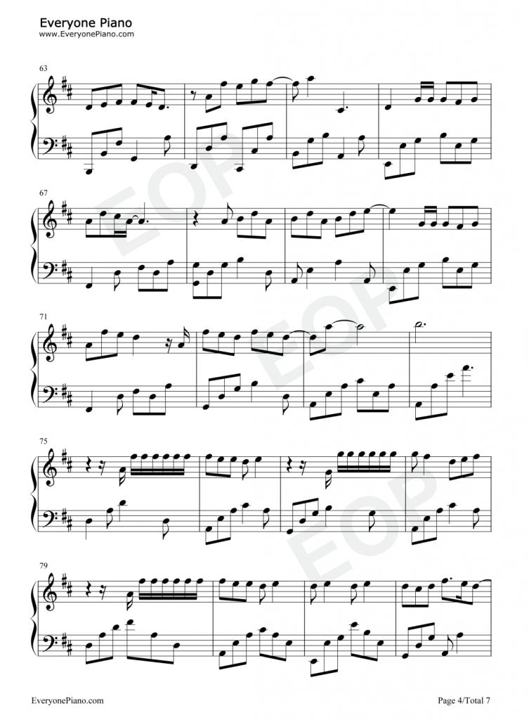 最向往的地方 钢琴谱-动画电影《心灵奇旅》主题曲-林俊杰
