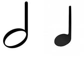 二分音符&四分音符